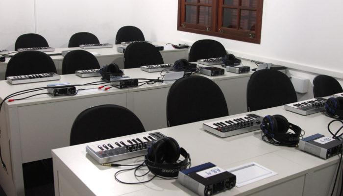 sala de gravação e mixagem